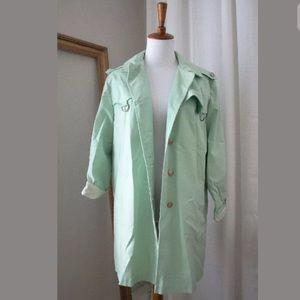 Jackets & Blazers - Women's 1960s Vintage Mint Green Trenchcoat